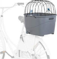 Trixie Fietsmand Voor Bagagedrager Met Draadkoepel Kunststof Grijs 46X36X47 CM