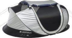 Deryan Luxe Cocoon Pop Up Tent Anti Uv Fps 50+ 2 Seconds - Zilver/ Zwart - 4 Persoons