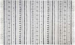 HSM Collection Vloerkleed - katoen - 180x120 cm - zwart/wit