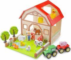 New Classic Toys Houten Speelgoed Boerderij Set met 20 speelfiguren