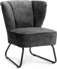 Antraciet-grijze Happy Chairs - Fauteuil Enrique - Velvet Antraciet