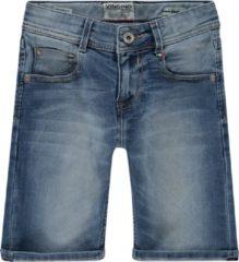 Lichtblauwe Vingino Charlie slim fit korte broek van denim met stretch