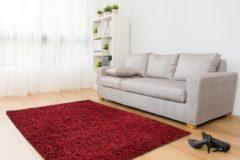 Aledin Carpets Moscow Red - Hoogpolig - Vloerkleed 120x170 cm - Shaggy - Met Glittergaren - Rood