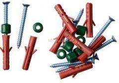 Bevestigingsset voor klimrekken - pluggen (8mm), schroeven (6mm), spacers - 8 x