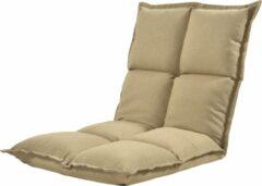 En.casa Vloerstoel loungekussen verstelbaar 110x55x11 cm zandkleurig