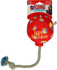 KONG Occasions Birthday Balloon - Rood - Medium - Happy Birthday