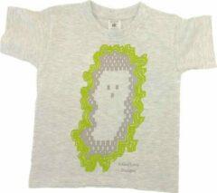 Antraciet-grijze B & C Anha'Lore Designs - Spookje - T-shirt - Antraciet - 5/6j (110/116)
