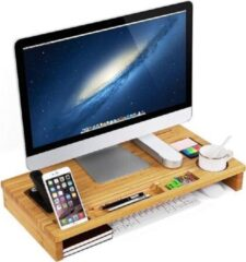 MIRA Home - laptopstandaard - Laptoptafel - Basic - Bamboe - Bruin - 60x30.2x8.5