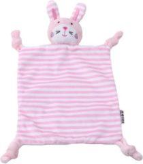 Woezy - Knuffeldoekje Flappie - Konijn - Roze - Knuffeldoekje - Kraamcadeau - Baby - Meisje