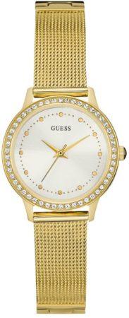 Afbeelding van GUESS Watches Dames Horloge W0647L7 - staal/mesh - goudkleurig - Ø 30 mm