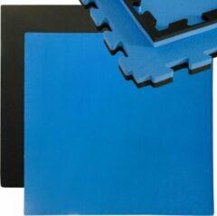 Eyepower Puzzelmat Sport Mat 90x90cm zwart-blauw