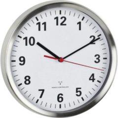 TFA 60.3529.02 Wandklok Zendergestuurd 22 cm x 4.5 cm Aluminium Slepend uurwerk (geluidsloos), Energiebesparingsfunctie