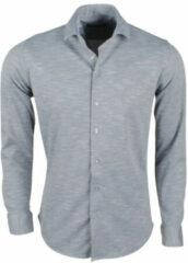 Grijze Ferlucci Heren overhemd tricot superstretch melee