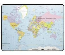 Durable Desk Mat with World Map (7211-19)