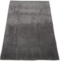 SEASTAR Kuscheldecke grau Zick-Zack-Struktur, 150 x 200 cm