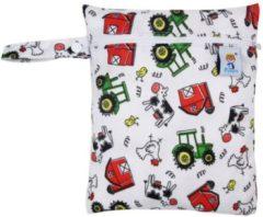 Rode Merkloos / Sans marque LeuksteWinkeltje opbergzakje Boerderij opbergtasje voor natte dingen voor luiertas baby of onderweg luierzakje wetbag