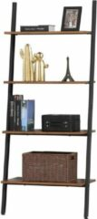 Zwarte Vasagle Nancy's Boekenkast - Vintage Kast - Wandplank - Wandkast - Boekenkasten