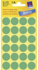 Avery-Zweckform 3006 Etiketten à 18 mm Papier Groen 96 stuk(s) Permanent Etiketten voor markeringspunten