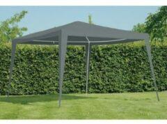 Grijze Outdoor Living paviljoen Budget PE 300 x 300 cm - grijs
