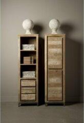 Witte Tower Living Boekenkast Venetie met 3 laden en 3 open vakken | Oud Teak