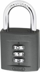 ABUS hangslot 158, slotkast zink/staal legering, diam beugel 8mm