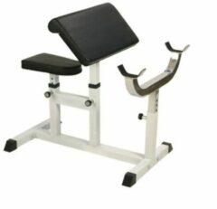 Witte Gorilla Sports Biceps Curlbank Belastbaar tot 200kg & verstelbaar