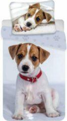 Animal Pictures Puppy - Dekbedovertrek - Eenpersoons - 140 x 200 cm - Grijs