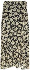 Fabienne Chapot gebloemde rok van mesh Bobo zwart/ beige