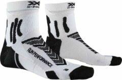 X-socks Hardloopsokken Run Performance Nylon Wit/zwart Mt 35-38