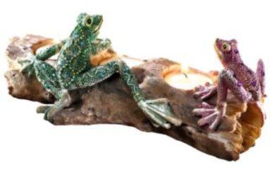Teelicht-Trio Frosch multicolor