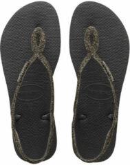 Havaianas Slippers - Maat 37/38 - Vrouwen - zwart/goud