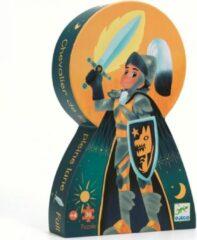 Djeco - Puzzel 36 stukken - Ridder bij de volle maan