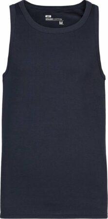 Afbeelding van Donkerblauwe WE Fashion Heren organic cotton singlet