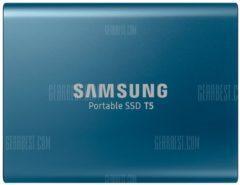 "GearBest ""Original Samsung SSD T5 External Solid State HD Hard Drive USB 3.1 Gen2 (10Gbps) - 500GB Ocean Blue"""