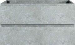 Badplaats B.V Badplaats - Wastafelkast Angela 100cm - Grijs - zonder wastafel