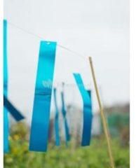 Blauwe Nature Vogelschrikstrips aluminium 29,5x4,5cm set a 15 stuks