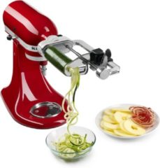 Zilveren KitchenAid Spiraalsnijder voor keukenrobot mixer 5KSM1APC