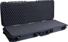 De binnenafmetingen van deze Innox koffer zijn 1100 x 370 x 140 mm. Dankzij het plukschuim kun je de koffer zelf op maat maken. Je kunt er bijvoorbeeld een 61 toetsen keyboard in doen, of een kleiner keyboard met accessoires.