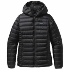 Patagonia - Women's Down Sweater Hoody - Donzen jack maat M, zwart