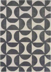 Scion - Forma Liquorice 26205 Vloerkleed - 170x240 cm - Rechthoekig - Laagpolig Tapijt - Design, Retro - Beige, Zwart
