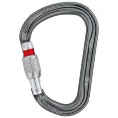 Zwarte Petzl William Screw Lock groot formaat karabiner