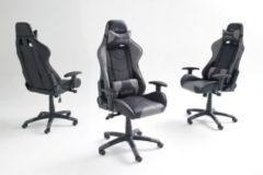 Bürostuhl im Racing Style Kunstlederbezug schwarz/ grau MCA-Furniture mcRacing