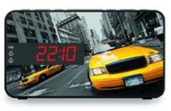 Gele Bigben RR15TAXI Wekkerradio Met Led Display - New York Taxi