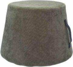 Antraciet-grijze Rox Living Poef 45 X 37 Cm Fluweel/polyurethaan Antraciet