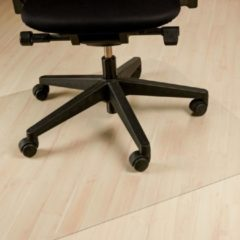 Relaxdays vloerbeschermer - bureaustoelmat - vloermat - stoelmat - harde vloeren - PVC 90 x 120 cm