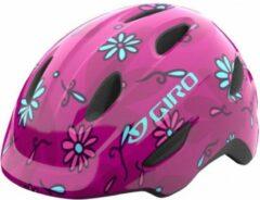 Blauwe Giro Scamp MIPS Kinderhelm Roze Bloemen Hoofdomtrek S / 49-53 cm