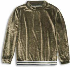DJ Dutchjeans sweater met glitters goud/wit/donkerblauw