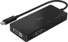 Belkin USB-C multipoort videoadapter (HDMI, VGA, Displayport, DVI)- Zwart