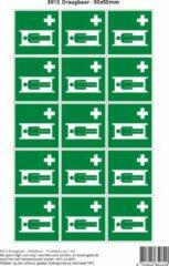 Groene Stickerkoning Pictogram sticker E013 Draagbaar - 50x50mm 15 stickers op 1 vel