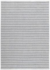 Antraciet-grijze MOMO Rugs - Nouveau Stripes Silver/Dark Grey Vloerkleed - 170x240 cm - Rechthoekig - Laagpolig, Structuur Tapijt - Industrieel - Antraciet, Grijs
